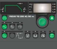 Migatronic focus tig 200 acdc bedieningspaneel