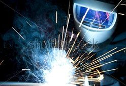 Welding with filled welding wire
