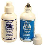 Markal ballpaint Marker wit, ds a 12 st