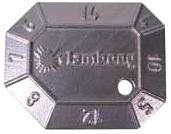 Lashoogtemeter met logo VB