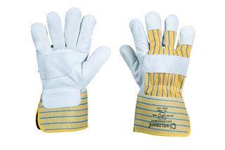 Werkhandschoen rundleder met palmversteviging, maat 10,5