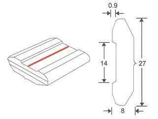 Weldsafe Keramische strip 8061-5/0,9, ds a 18 mtr