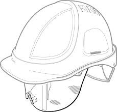 Beschermbril v. Protector helm