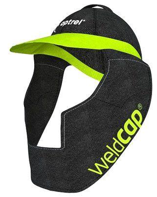 Anheben der weldCAP-Textilhaube, Kopf- und Nackenschutz